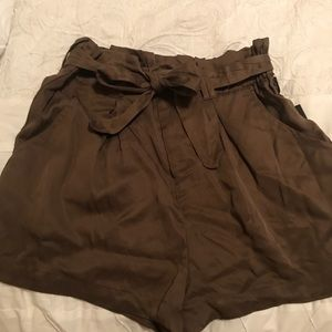 High waisted tie shorts from Nordstrom!